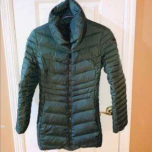 Andrew Marc down forest green puffer coat sz L